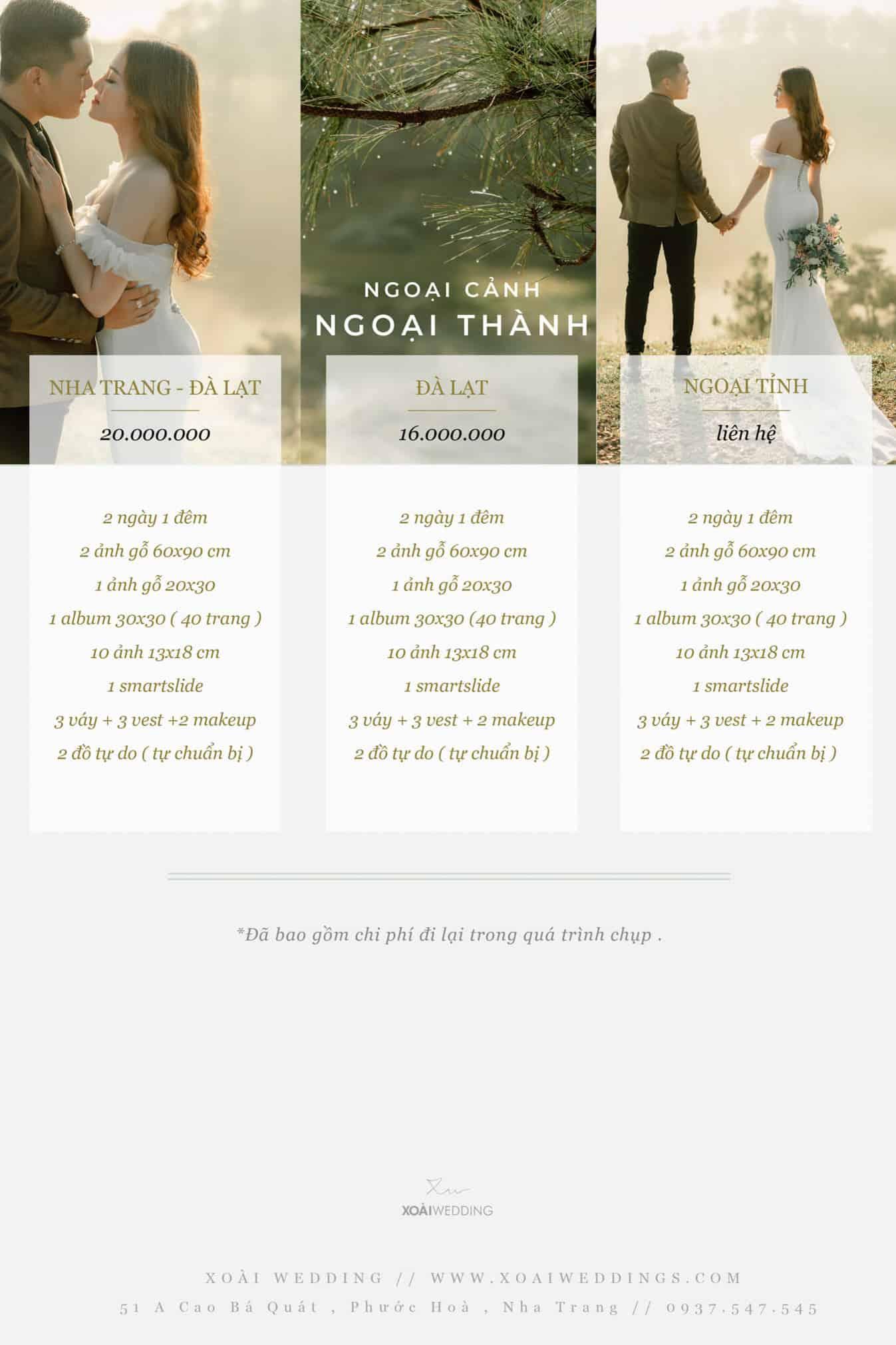giá chụp ảnh cưới tại nha trang