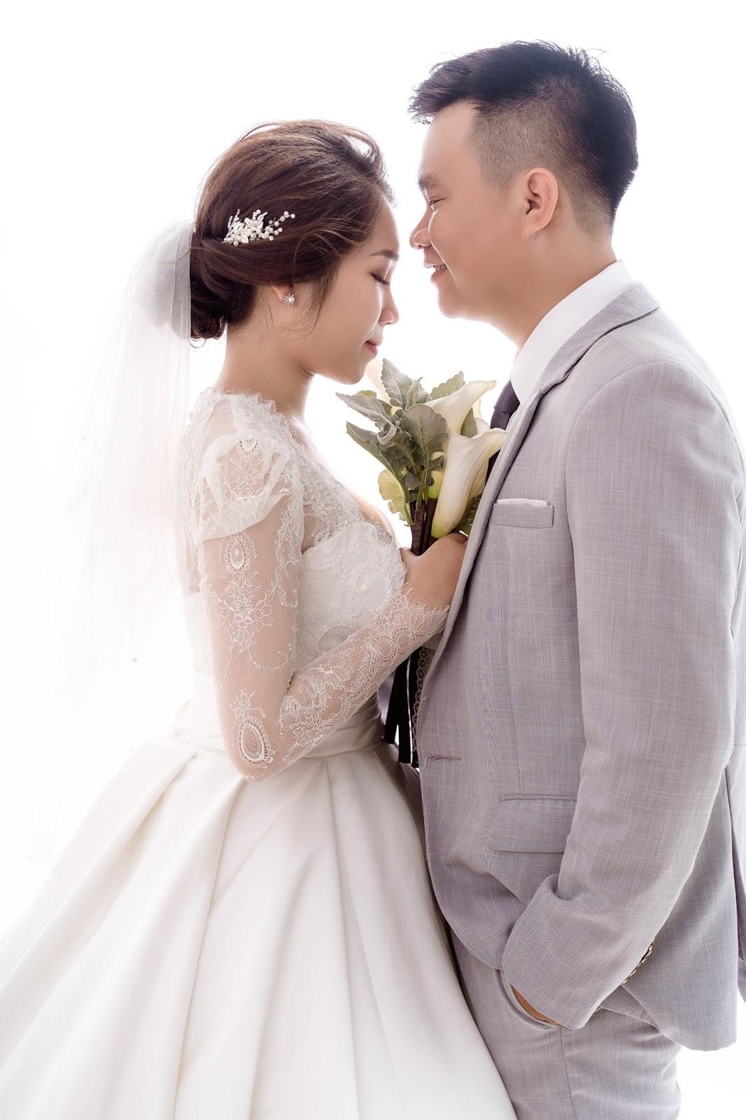 kiểu tóc cô dâu đẹp nhất, chụp ảnh cưới trong Studio ở Nha Trang